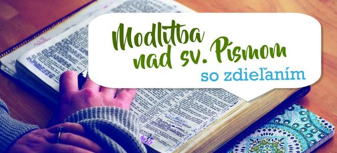 Modlitba nad sv. Písmom