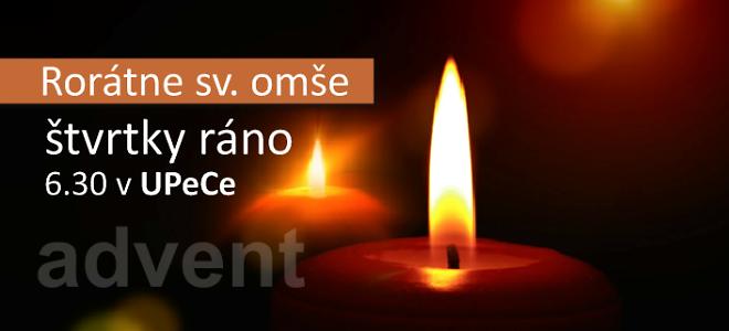 Rorátky - Advent v UPeCe
